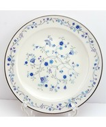 """Noritake Serene Garden Bread and Butter Plate 6-1/4"""" White w Blue Floral - $9.90"""
