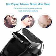Electric Shaver with Pop-up Trimmer for Men, Men's Electric Razor Cordless Foil  image 3