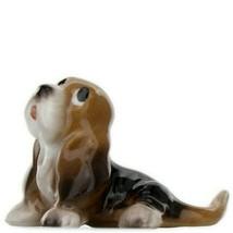 Hagen Renaker Dog Basset Hound Pup Sitting Ceramic Figurine