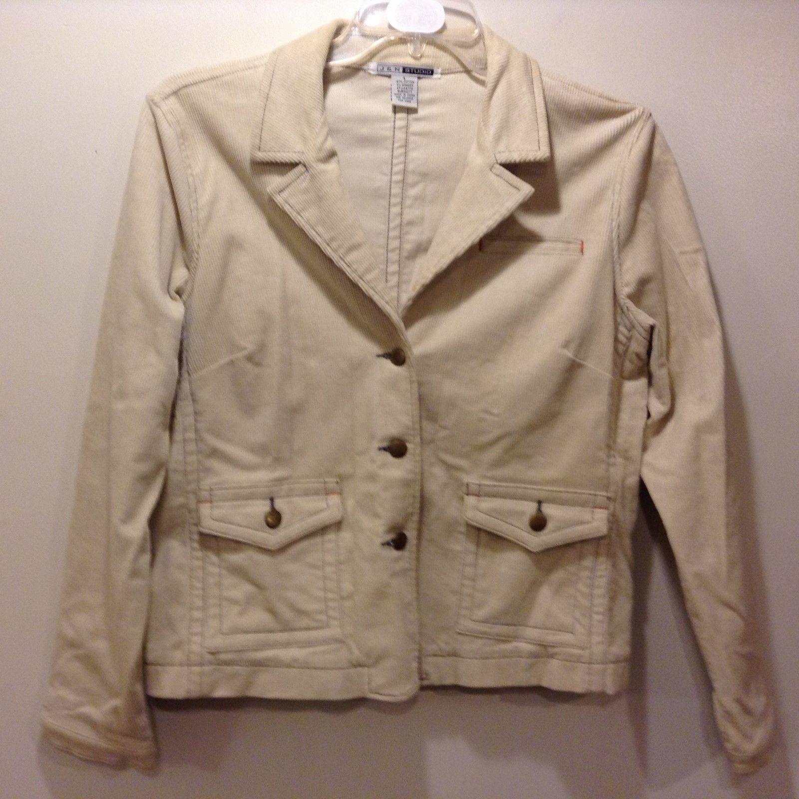 J&N Studio Beige Corduroy Jacket Sz LG