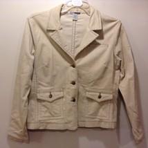 J&N Studio Beige Corduroy Jacket Sz LG - $24.75