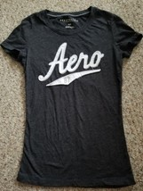 AEROPOSTALE Gray Short Sleeved Top Ladies SMALL - $4.66