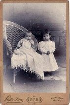 Fred & Maud Poulin Cabinet Photo of Children - Fairfield, Maine - $17.50