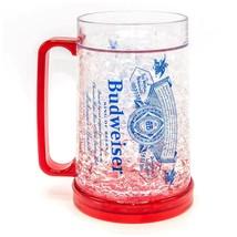 Budweiser Freezer Beer Stein Mug 16 Ounces Clear - $19.98