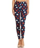 Women's 3 X 5X 4th of July Stars Distressed Pattern Printed Leggings - $19.60 CAD