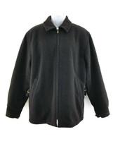 Polo by Ralph Lauren Mens Black Wool Blend Full Zip Long Sleeve Jacket Coat  M - $30.73