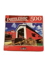 "Puzzlebug 500 Piece Puzzle Bridgeton Bridge and Mill 18.25""  X 11"" New C... - $6.23"