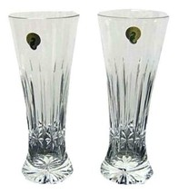 Set of Two Waterford Crystal Logan Pilsner Glasses New  - $118.79