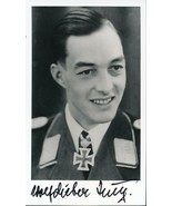 Wolf Dietrich Huy signed photo. Luftwaffe Ace. JG-77. 40 kills. - $34.95