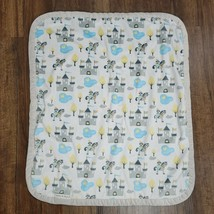 Blankets & and Beyond Blue Gray White Castle Horse Pony Knight Pond Duck... - $58.90