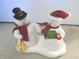 Hallmark Jingle Pals Animated Musical Mr. + Mrs. Snowman-FREE SHIPPING! - $29.69