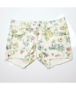 Miss Me Jean Shorts Size 27 Womens Cargo Botanical Garden Print $99 CP40... - $62.74