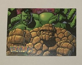 Marvel Comics Ziploc Trading Card 1 Incredible Hulk & The Thing 1995 - $54.44