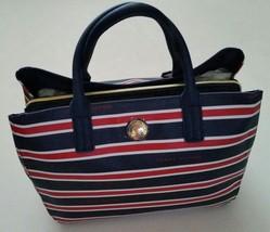 TOMMY HILFIGER Large Handbag Satchel Purse Tote Bag Red White Blue NEW N... - $66.50