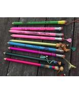 Huge Lot 9 Oversize Jumbo Novelty Souvenir Pencils Texas Seattle Worlds ... - $49.45