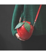 Cute red green  women crossbody bags leaf designer flap sac a main lady baobao pu thumbtall