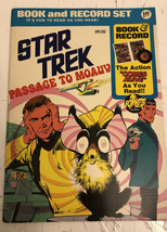 Star Trek Passage to Moauv, Book and Record Set PR-25, Power Records 1975 - $9.50