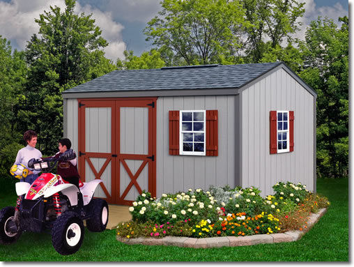 Best Barns Cypress 12x10 Wood Storage Shed Kit - ALL Pre-Cut