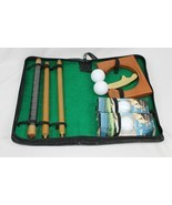 Folding Golf Putter Club Ball Practice Hole Gift Set in Case w/ Spalding... - $33.65