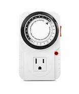 Century 24 Hr Plug in Mechanical Grounded Programmable Timer Indoor Heav... - $18.99