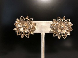 Vintage Gold Tone Floral Sarah Coventry Clip on Earrings - $10.00