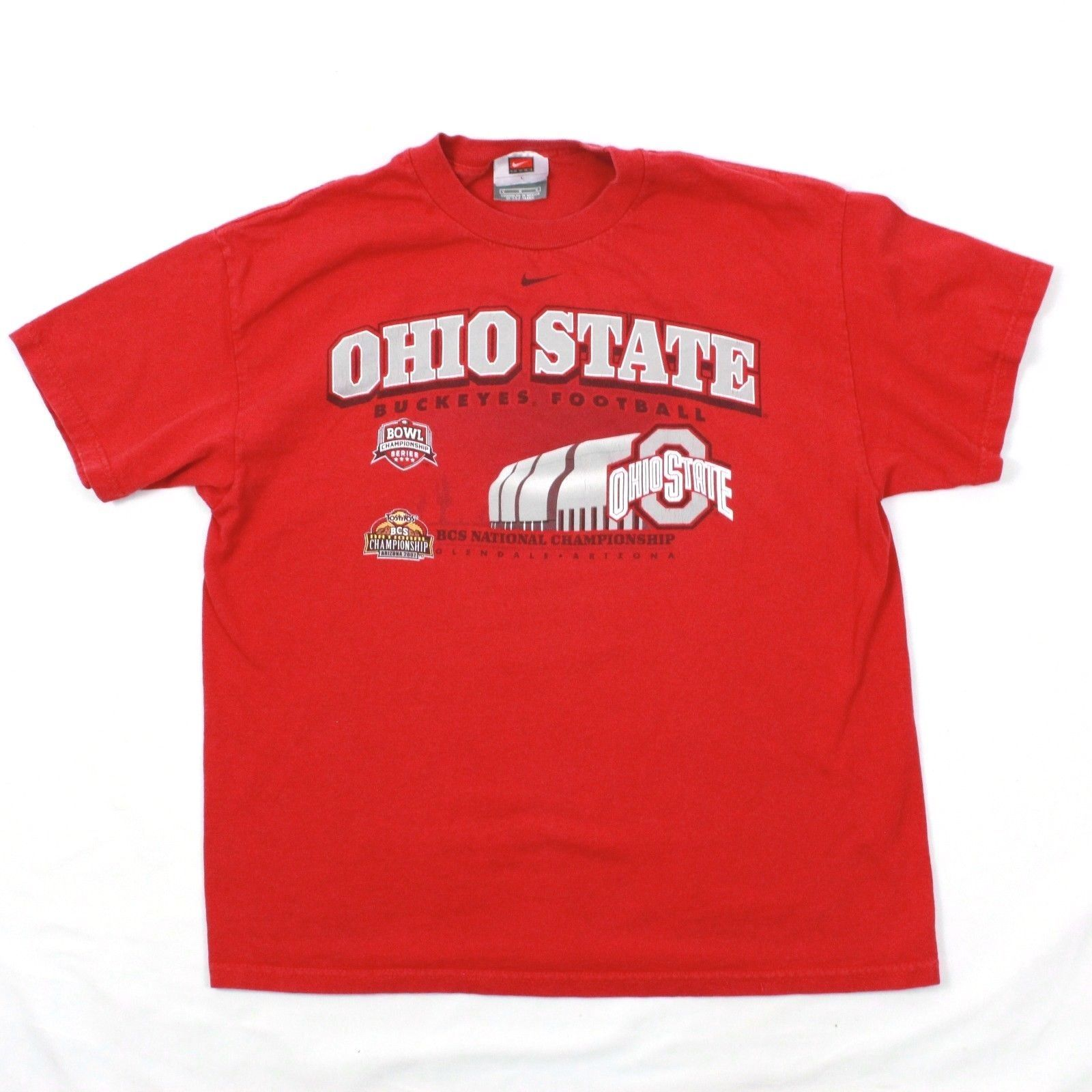 1d43f2a7d Nike Ohio État Buckeys T-Shirt L T-Shirt 2007 Football Tostitos Bol  Champions - $19.81
