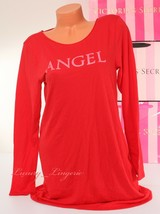 Victoria's Secret Angel Front Print Long Sleeve Sleep Pajama Sleepshirt ... - $19.99