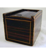 19th Century Antique Painted Wood Small Candlebox Candle Box Sliding Lid - $547.77