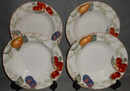 Set (4) Charter Club Casuals SUMMER GROVE PATTERN Rimmed Soup and Pasta ... - $95.03