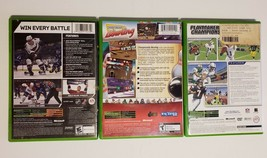 MICROSOFT XBOX - Lot of 3 Sport Madden 2004 NHL 07 & Bowling Games image 2