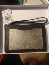 Authentic Coach Boxed Corner Zip Wristlet - $32.73