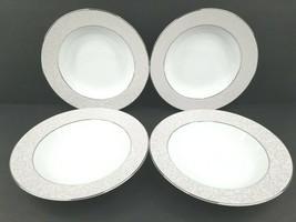 4 Mikasa Parchment Rim Soup Bowl Fine China L3438 Replacement Rimmed Bow... - $37.49