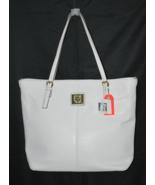 Anne Klein White Magnolia Summer Tote Handbag G... - $24.99