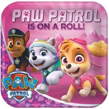 "Paw Patrol Girl 8 9"" Lunch Plates Birthday Party - $5.22"