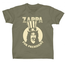 Frank Zappa-For President-XL Military Green T-shirt - $22.24