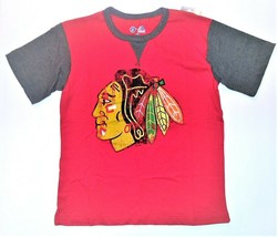 NHL Majestic Boys Chicago Blackhawks Shirt Hockey Size Medium 10-12 NWT - $16.48