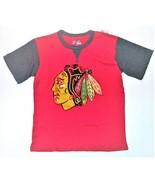 NHL Majestic Boys Chicago Blackhawks Shirt Hockey Size Medium 10-12 NWT - $16.48