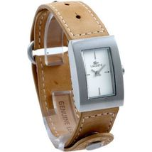 Lacoste LAW6200L32 Ladies Ivory Dial Tan Leather Strap Watch - $88.81