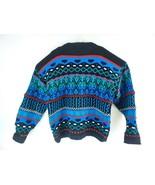 VTG Concrete Men's Crazy Striped Color Block Pullover Sweater Size Large - $48.51