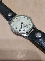 Pobeda 15 Jewels Gold plated mens wrist watch vintage 1954yer USSR RARE original image 5