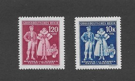 1943 MNH stamp set / Traditional Native costumes  Third Reich / Nazi Occ... - $2.99