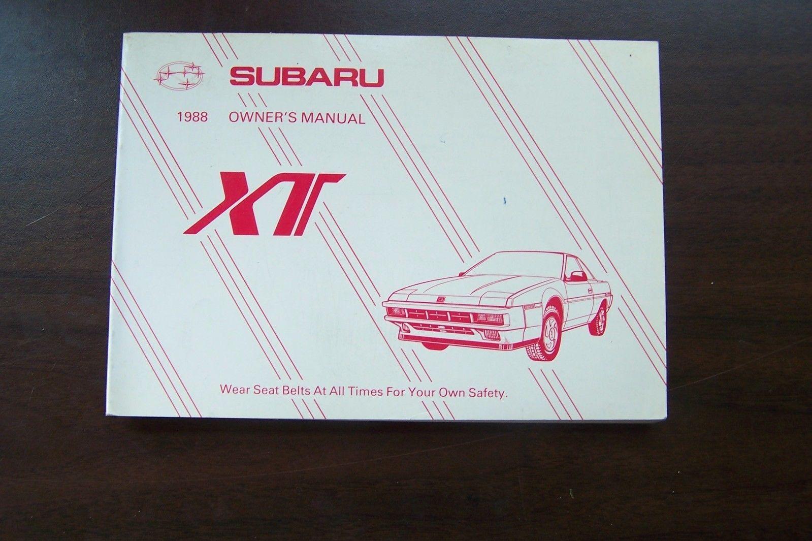 1988 subaru xt owners manual new original and 11 similar items