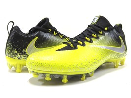 Nike Vapor Untouchable Pro BLK & Metallic Silver Football Cleats Men's Size 11.5 - $148.45