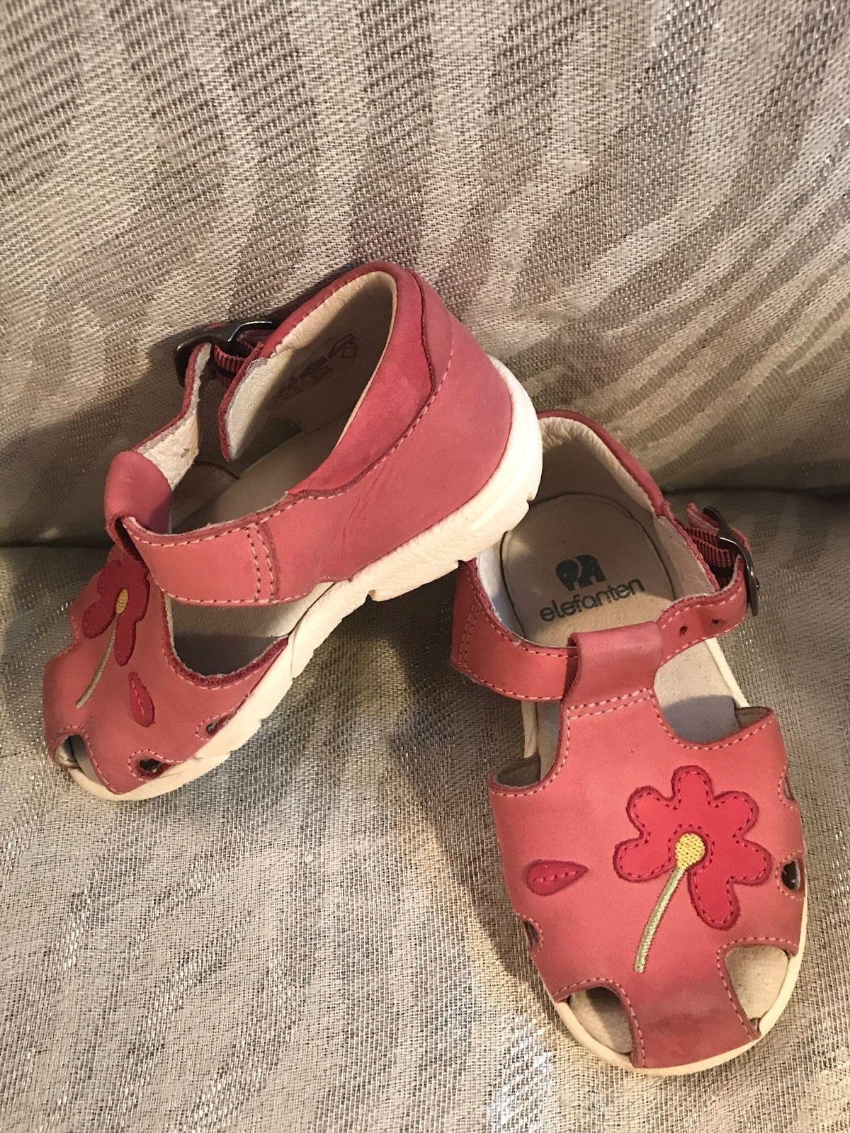 Elefanten Pink Flower Girl's Toddler Sandal Shoes Size 21(US 5)