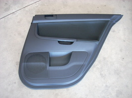 2010 MITSUBISHI LANCER BLACK RIGHT PASSENGER SIDE REAR DOOR TRIM PANEL