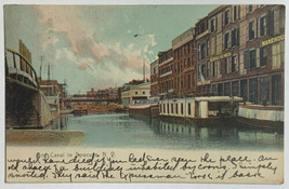 Old Antique Divided Back Era Postcard Erie Canal in Syracuse, NY Posted ... - $14.65