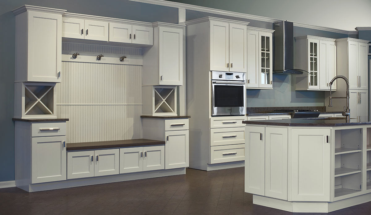 Dover White Shaker Collection JSI 10x10 kitchen cabinets ...