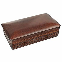 Espresso Stained Linden Wood Jewelry Keepsake Storage Box (Large) Wooden Box - $44.54