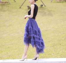 High-low Layered Tulle Skirt Outfit Plus Size Wedding Outfit Tiered Tulle Skirt image 4