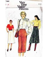 Vintage 1970's Misses' SKIRTS Vogue Pattern 7444-v Size 8 - $10.00